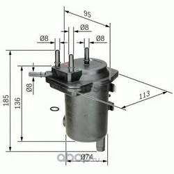 Топливный фильтр (Bosch) 0450907008
