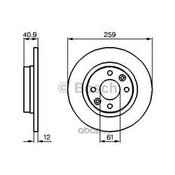 Диск тормозной Bosch (Bosch) 0986479164