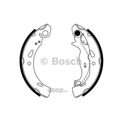 Комплект тормозных колодок (Bosch) 0986487753