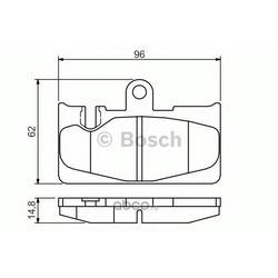 Комплект тормозных колодок (Bosch) 0986495139
