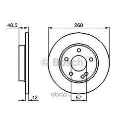 Тормозной диск (Bosch) 0986478874