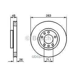 Тормозной диск (Bosch) 0986479193