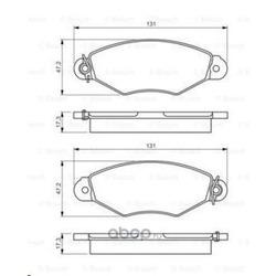 Комплект тормозных колодок, дисковый тормоз (Bosch) 0986495235