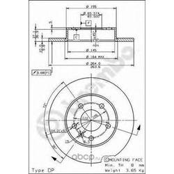 Тормозной диск (Brembo) 08762711