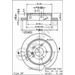 Тормозной диск (Brembo) 08793610