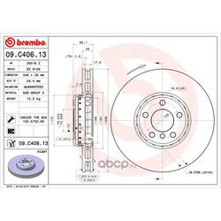 Тормозной диск (Brembo) 09C40613