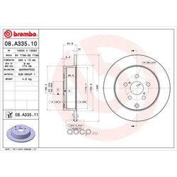 Тормозной диск (Brembo) 08A33511
