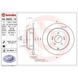 Тормозной диск (Brembo) 08B60511