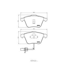 Колодки тормозные, комплект, передние (Brembo) P85056