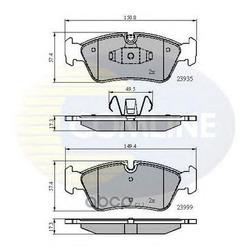 Комплект тормозных колодок, дисковый тормоз (Comline) CBP01590