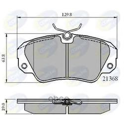Комплект тормозных колодок, дисковый тормоз (Comline) CBP0493
