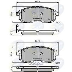 Комплект тормозных колодок, дисковый тормоз (Comline) CBP32025