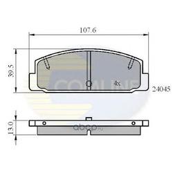 Комплект тормозных колодок, дисковый тормоз (Comline) CBP0819