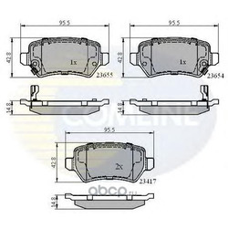 Комплект тормозных колодок, дисковый тормоз (Comline) CBP31551