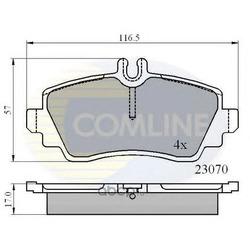 Комплект тормозных колодок, дисковый тормоз (Comline) CBP0748