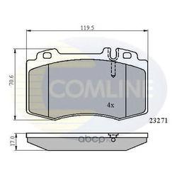 Комплект тормозных колодок, дисковый тормоз (Comline) CBP01117
