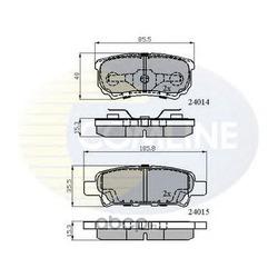 Комплект тормозных колодок, дисковый тормоз (Comline) CBP31290
