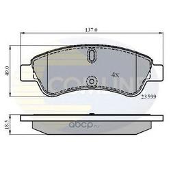 Комплект тормозных колодок, дисковый тормоз (Comline) CBP01033