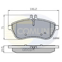 Комплект тормозных колодок, дисковый тормоз (Comline) CBP01786