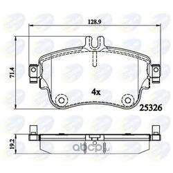Комплект тормозных колодок (Comline) CBP02151