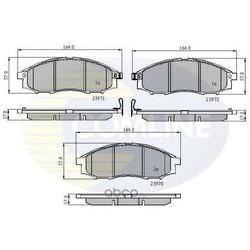 Комплект тормозных колодок, дисковый тормоз (Comline) CBP31193