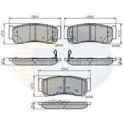 Комплект тормозных колодок, дисковый тормоз (Comline) CBP31714