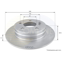 Тормозной диск (Comline) ADC1665