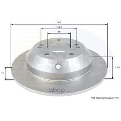 Тормозной диск (Comline) ADC2409