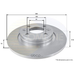 Тормозной диск (Comline) ADC2709
