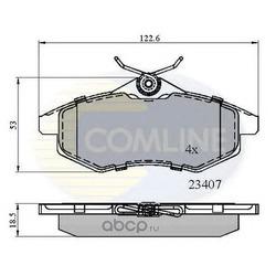 Комплект тормозных колодок, дисковый тормоз (Comline) CBP01145