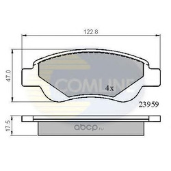 Колодки тормозные, комплект, передние (Comline) CBP01552