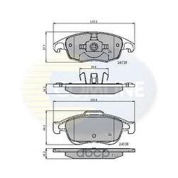 Колодки тормозные дисковые, комплект (Comline) CBP01719