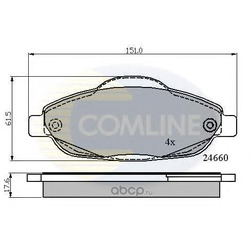 Комплект тормозных колодок, дисковый тормоз (Comline) CBP01765