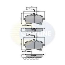 Колодки тормозные, комплект, передние (Comline) CBP11250