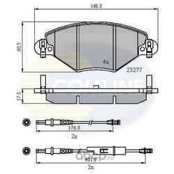 Колодки тормозные, комплект, передние (Comline) CBP21120