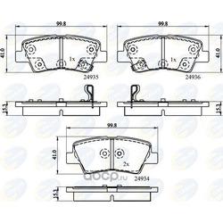 Комплект тормозных колодок (Comline) CBP32161