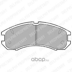 Комплект тормозных колодок, дисковый тормоз (Delphi) LP595