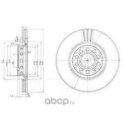 Тормозной диск (Delphi) BG3657