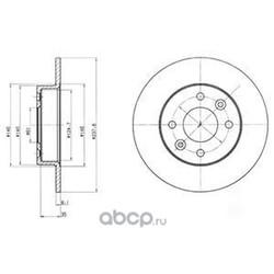 Тормозной диск (Delphi) BG2258