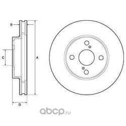 Диск тормозной вентилируемый (Delphi) BG3734