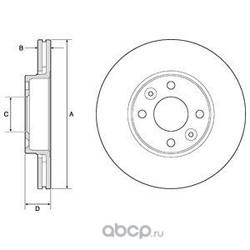 Тормозной диск (Delphi) BG3762