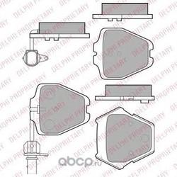 Колодки тормозные, комплект, передние (Delphi) LP1903
