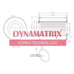 фильтр масляный (DYNAMATRIX-KOREA) DOFX1541D