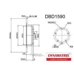 диск тормозной (DYNAMATRIX-KOREA) DBD1590