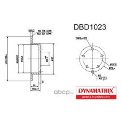 диск тормозной (DYNAMATRIX-KOREA) DBD1023