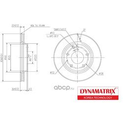 Диск тормозной, передний (DYNAMATRIX-KOREA) DBD1035