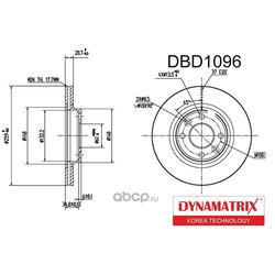 диск тормозной (DYNAMATRIX-KOREA) DBD1096