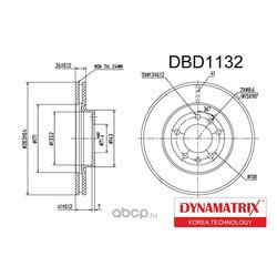диск тормозной (DYNAMATRIX-KOREA) DBD1132