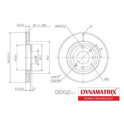 диск тормозной (DYNAMATRIX-KOREA) DBD1140
