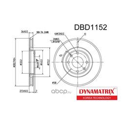 диск тормозной (DYNAMATRIX-KOREA) DBD1152